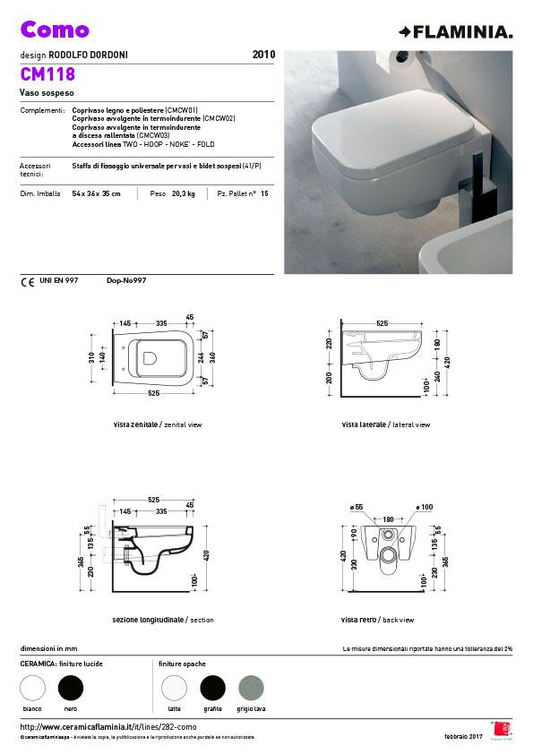 Como Wand Toilet Flaminia