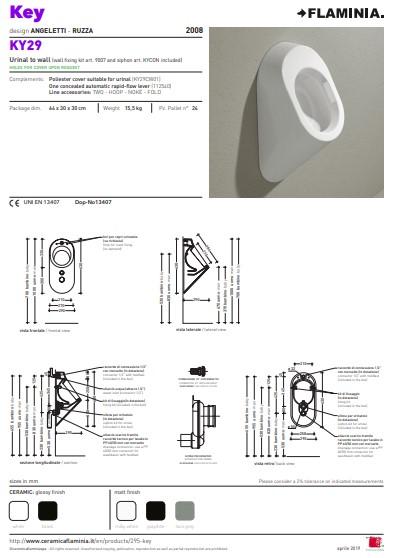 Key urinoir tekening