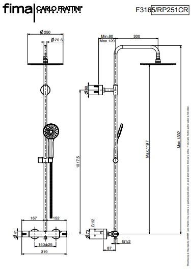 Douchethermostaat Combi Fima specificaties