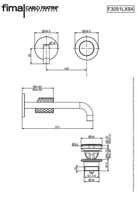Spillo Tech F3051LX9 maatvoering