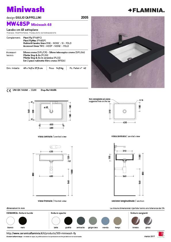 Miniwash 48 onderbouw maatvoering