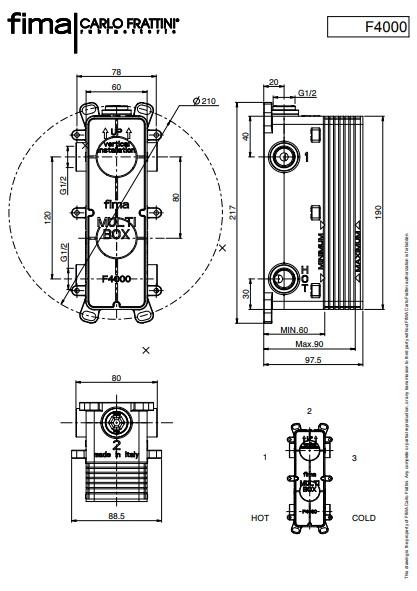 F4000 inbouwbox maatvoering