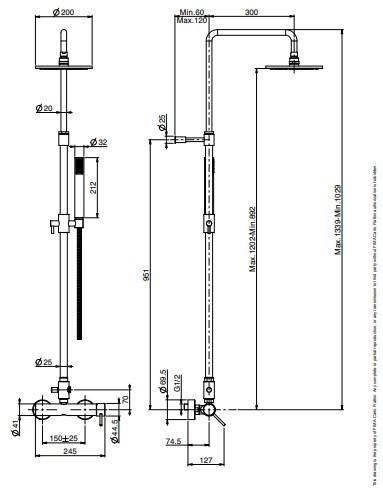 F4285 8 technische tekening