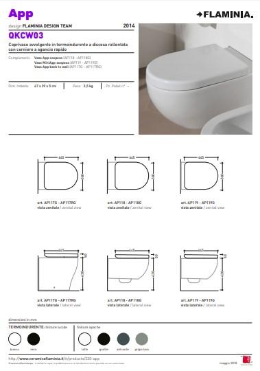 Flaminia App dikke toiletzittingen