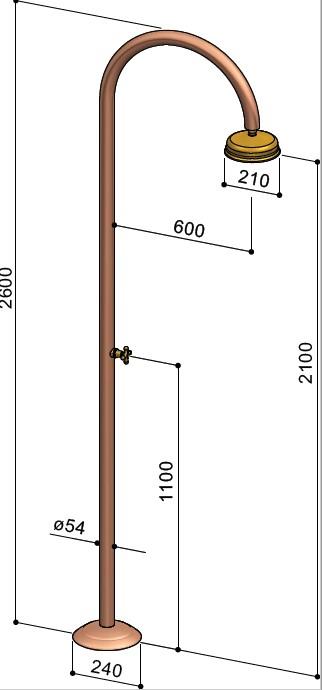 Maatvoering Rame buitendouche C50R