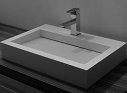 Opzet wasbak solid surface