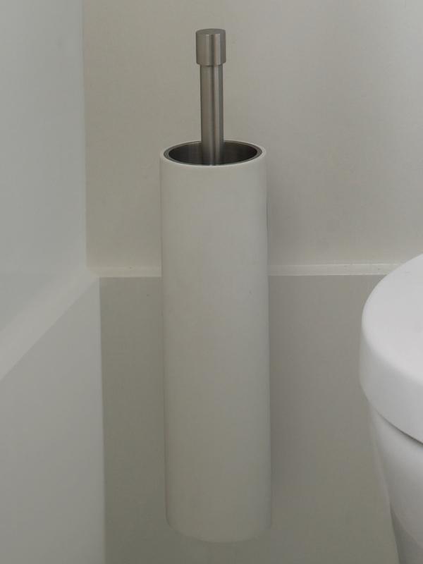 Piet Boon PB303 Toiletborstel wand RVS/Corian